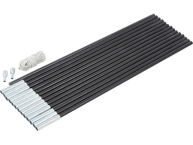 CAMPZ Glass Fibre Pole Set 11mm x 7,0m black
